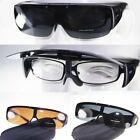 Polarized Fit over wrap around Fishing Sunglasses Flip up eyeglasses Goggles CE