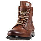 Sneaky Steve Kingdom Mens Brown Leather Casual Boots Lace-up Genuine Shoes