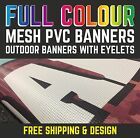 MESH PVC PERSONALISED OUTDOOR PRINTED HIGH QUALITY ADVERTISING BUSINESS BANNERS