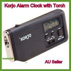 New Korjo Sml Beside Table Travel Alarm/Snooze Clock with Night Light Torch Loud