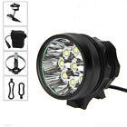 Power 45000Lm XM-L T6 12/10 LED Head Front Bicycle Lamp Headlight