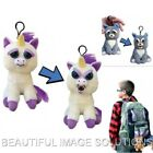 FEISTY PETS Minis Keychain School Backpack Charm Squeeze Head Turns Feisty