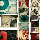 NEW FLORAL PRINTED PANAMA POLYCOTTON  18 X 18+/45X45cm    CUSHIONS COVER