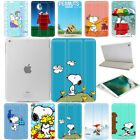 For Apple iPad Snoopy Pattern Smart Slim PU Magnetic Leather Stand Case Cover