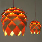 Modern design style Wooden Pinecone Shape LED Bulbs pendant lights ceiling lamp