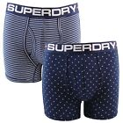 Superdry Sport Boxer Double Pack Optic Polka Richest Navy Various Sizes