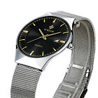 WWOOR New Luxury Men Watches stainless steel Quartz Calendar Date Wristwatches