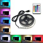 5V 100-500CM USB LED STRIP LIGHTS TV BACK RGB COLOUR CHANGING + REMOTE CONTROL