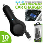 10W 2.1Amp Micro USB Retractable Car Charger for Samsung Motorola LG HTC Nokia