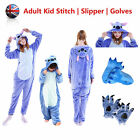 Unisex Adult Kid Pajama Kigurumi Cosplay Animal Onesie11 Hallowee Stitch Costume