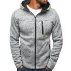 UK Mens Winter Slim Hoodie Warm Hooded Sweatshirt Coat Jacket Outwear Sweater FL