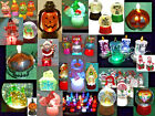 Hallmark Bag Snow Globes Fiber Optics Changing Colors Pulsing Colors Glitter NEW