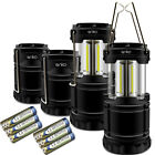 Set of 2 Or 4 Camping Lantern, Portable COB Light Ultra Bright Collapsible Lamp