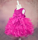 Flower girls kids baby toddler bridesmaid tutu pageant prom dress dresses gown
