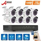 ANRAN 1080P 4CH/8CH CCTV NVR 2MP HD Network PoE Home Security Camera System P2P
