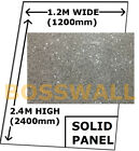 BOSSWALL® SOLID Large SILVER SPARKLE Acrylic Shower Wall Panel Sheet Wet Wall