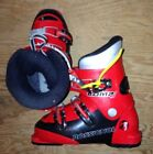 Rossignol Comp junior ski boots with replacement heel/toe plates kid's size 11-8