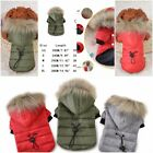 Dog Hood Coats Adjustable Waist Windproof Hooded Pet Puppy Green/Red/Gray Cotton