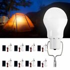 8PC 15W Solar Powered LED Rechargeable Bulb Light Outdoor Camping Yard Lamp