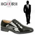 "Goor ""Ebony"" Black Oxford Mens Brogues Tie Men's Formal Evening Dress Shoes"
