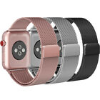 For Apple Watch Band, Magnetic Milanese Loop Mesh Smooth Stainless Steel Strap