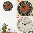 antique style clocks - Antique Clock Wall Rustic Vintage Style Wooden Round Clocks Art Home Room Decor