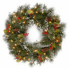 National Tree Company Wintry Pine Wreath with Lights