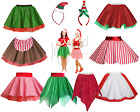 LADIES Christmas COSTUMES Elf CANDY CANE Mrs Santa Claus Dance SHOW Fancy Dress