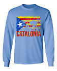 Free Catalonia Flag Support Independence Men's Long Sleeve T-Shirt