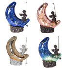 """River of Goods 9.5""""H Moon and Cherub Accent Lamp - Choose your color"""
