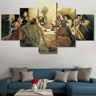 Framed 5P Jesus Disciples Last Supper Canvas Print Painting Wall Art Home Decor