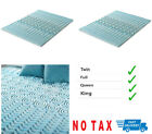 2 Inch Cooling Gel Memory Foam Mattress Topper Pad Bed Cushion 5 Zone Orthopedic image