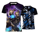 NEW GROOT&ROCKET GUARDIANS OF GALAXY COMICS ANIME TOP TEE T-SHIRT UK REGULAR FIT