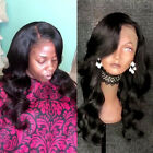 New Wavy Full Lace Front Wigs Virgin Human Hair Wig Pre-Plucked Natural Hairline