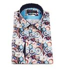 Guide London Multi Cotton Sateen Retro Multi-Circle Print Shirt LS74361