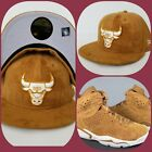 New Era Suede Chicago Bulls fitted hat Jordan 6 Wheat Golden Harvest on eBay