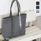 CASUAL EVERYDAY SEQUINED SPANGLED TRIM  TOTE SHOPPING SHOULDER BAG PURSE FABRIC