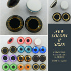 1 PAIR 8mm to 20mm Glass Cabochon Eyes Dolls, Jewelry, Sculpture, Craft CAB-G