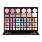 78 Colors Women Eye Shadow Brushes Shimmer Makeup Lip Gloss Palette Set Party