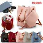Women Leather Tassel Shoulder Bag Handbag Crossbody Messenger Satchel Tote Purse