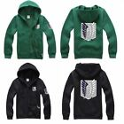 Attack on Titan Shingeki no kyojin Hoodie Black Green Jacket Costume UK Seller