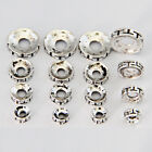 50/100pcs6mm8mm10mm12mm Tibetan Silver Alloy Metal Big Hole Spacer DIY Beads T