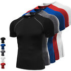 T-shirt Gym Sport Compression Mens Base Layer Short Sleeve Tights Athletic Wear