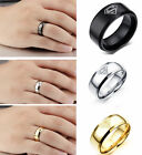 Superman Ring Band Men Jewerlly Child Party Comics Triangle Stainless Steel