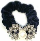 Ribbon Lady's Pearls Bow Hair Band Rope Hairband Ponytail Holder Tie Scrunchie