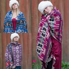 Aztec Blanket Shawl Throw Cape Wrap Bedspread Nepalese Yoga Festival Unisex