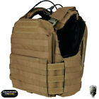 TMC Tactical Vest CAC Plate Carrier Molle Body Armor w/ Plate Military Airsoft