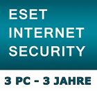 ESET Internet Security 2018 - Lizenz  1-3 PC / 3 Jahre