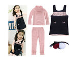 Kids Girl Daughter Winter Warm Sweater Dress Skirt Outfit Hairband Pants 4X