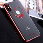 Slim PC Case for iPhone X Bling Bling Crytal Diamond Transparent PC Hard Case